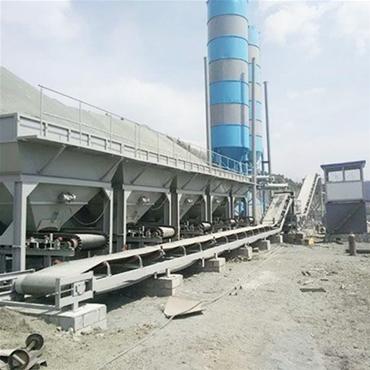 WDJ-600型哈尔滨稳定土拌和站使用现场